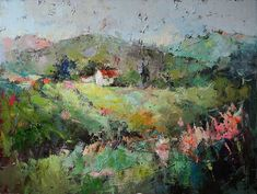 "Sunny Meadow 48x36"". Art of Julia Klimova"