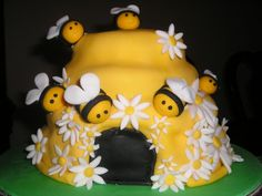Bee Hive - Fondant covered cake.