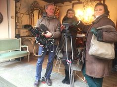 Shopping the Paris Flea Market with The Antiques Diva - Diva Guide Danielle filming with TF1