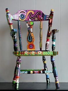 Bunt Bemalte Möbel Zum Selbermachen Für Mehr Farbe Zu Hause