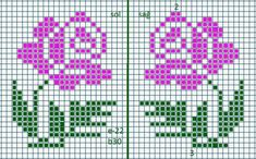 Kawaii Cross Stitch, Tiny Cross Stitch, Beaded Cross Stitch, Cross Stitch Alphabet, Cross Stitch Flowers, Cross Stitch Designs, Cross Stitch Patterns, Broderie Bargello, Knitted Mittens Pattern