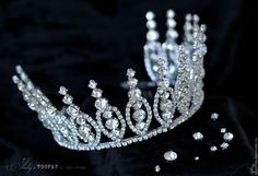 Купить Корона для конкурса красоты. Свадебная корона. Диадема. Тиара - белый, прозрачный, свадебная корона