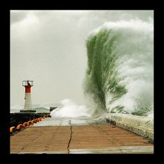 Awesome Power! At the end of the pier Kalk Bay harbour Cape Peninsula