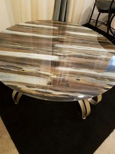 Brown white table