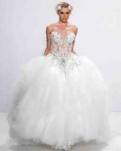 Pnina Tornai 2017 Wedding Dress Collection | Martha Stewart Weddings – Strapless ball gown wedding dress
