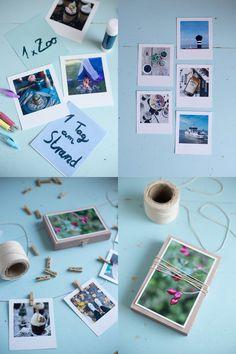 DIY Gutschein Girlande mit Polaroid Fotos selbermachen - DIY Fotogeschenke Girlande und Verpackung