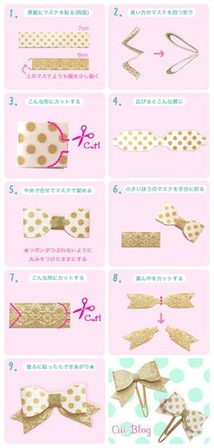 Washi tape bow marker: