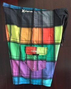 5bb458a17c Multi Color Colorful Hurley Phantom Stretch Surf Board Shorts Swim Trunks  Sz 34 #fashion #
