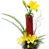 Order online yellow lily arrangement for Chennai delivery. We deliver online gifts to Chennai without any delivery Charges. Visit our site : www.flowerschennai.com/Flower-baskets.php