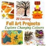 Fall Art Projects For Kids You Must Try! Here are 20 exciting Fall art ideas that explore Autumn colours in new and exciting ways. You'll never look at red, orange and yellow paint in the same way again! Fall Painting ideas made fun! Autumn Painting, Yellow Painting, Autumn Art, Fall Art Projects, Projects For Kids, Crafts For Kids, Alzheimers Activities, Leaf Crafts, Leaf Art