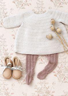 Baby Knitting Patterns Onesie August dress pattern by Olaug Beate Bjelland Fashion Kids, Baby Girl Fashion, Toddler Fashion, Fashion Clothes, Babies Fashion, Fashion Dolls, Style Fashion, Stylish Baby Clothes, Cute Baby Clothes