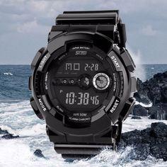Mens LED Digital Date Alarm Waterproof Shockproof Sports Army Watch Wristwatch in Jewelry & Watches,Watches,Wristwatches | eBay