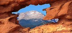 Pike's Peak, as seen from the Garden of the Gods, Colorado Springs, CO