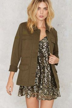 Nasty Gal Chain of Command Army Jacket - Jackets + Coats