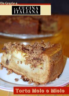 Torta integrale con mele, miele e un kg di grazie alla cucina italiana