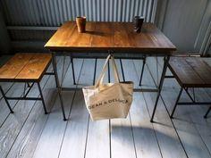 アイアン・ウッドカフェテーブルの画像1枚目