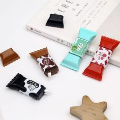 A cute correction tape that comes in a sweet-looking chocolate package. Cute School Supplies, Office And School Supplies, Too Cool For School, School Fun, School Suplies, Correction Tape, Cute Stationary, Cute Candy, Kawaii Stationery