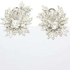 Christian Dior Vintage Jewelry - Diamanté Trembler 1950s Earrings by Christian Dior by Kramer