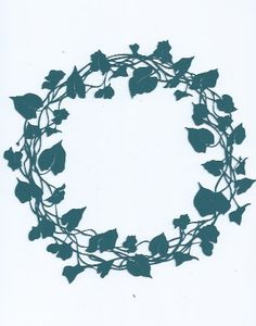Ivy wreath silhouette by hilemanhouse on Etsy, $1.99