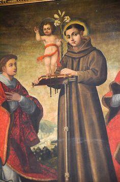 Dipinto di Sant Antonio da Padova con Bambino - Chiesa Santa Maria di San Luca (Valenzano)