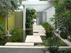 COURTYARD WITH WATER AND STEPSTONES - Google Search