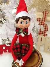 Elf on the Shelf TARTAN PLAID Pant And Bow Tie