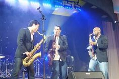 """Marcus Anderson as part of """"The Sax Pack"""" (with Jeff Kashiwa & Steve Cole) at The 26th Annual Catalina Island JazzTrax Festival"""