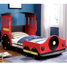 Furniture of America Red Train Locomotive Metal Youth Bed - Overstock Shopping - Great Deals on Furniture of America Kids' Beds