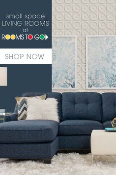 Got a small space? No problem! Find living room furniture to fit your apartment, condo or other small spaces today at Rooms To Go. Small Living Room Furniture, Small Space Living Room, Living Room Tv Unit Designs, Living Room Sectional, Living Room Grey, Living Room Sets, Small Spaces, A Frame House, House Inside