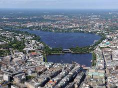 Binnen- und Außenalster #Hamburg