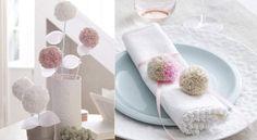 Des pompons pour ma déco de tableParfaits pour utiliser des restes de laine, lespomponscomposent de ravissantespetites décorationsà semer partout dans la maison.