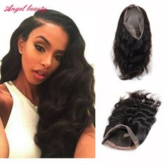 162.30$  Buy here - http://ali2e6.worldwells.pw/go.php?t=32748667419 - Pre Plucked 360 Lace Frontal Body Wave Natural Hairline Brazilian Virgin Body Wave 360 Lace Band Frontal Closure With Baby Hair 162.30$