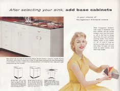 """Orange kitchen cabinets — yes! I call this vintage color """"bittersweet"""", and it…"""