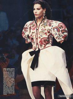 Chanel 1987 Robe du soir à double jupe, Boléro brodé, Evening Gown, Embroidery