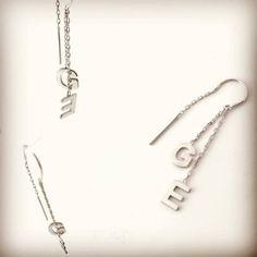 #küpe #harfliküpe #gümüş Arrow Necklace, Jewelery, Personality, Silver, Jewlery, Jewels, Jewerly, Schmuck, Jewelry