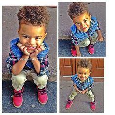 Beautiful babies por SilverDolla_ en We Heart It Boys Curly Haircuts, Toddler Haircuts, Boy Hairstyles, Mixed Boys Haircuts, Baby Boy Swag, Kid Swag, Cute Kids, Cute Babies, Baby Kids