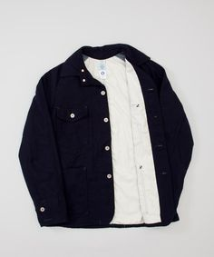 Post Overalls Lined Engineers Jacket- Navy