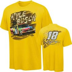 Kyle Busch #18 M's Youth Charlie T-Shirt by Checkered Flag. $19.99. If you're a fan of racing and Kyle Busch is your favorite driver then show your allegiance with this Kyle Busch #18 M's Youth Charlie T-Shirt. Made from 100% cotton, this Kyle Busch t-shirt features a vibrant screen print with driver's picture and car on the front, and a print with driver's number and sponsor logo on the back.