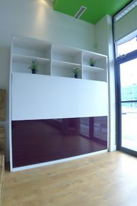New inline murphy bed with hutches and inline sofa by - Lit escamotable mural ikea ...