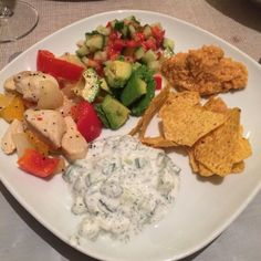 Greek style - homemade humous & Tayziki