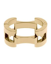 Michael Kors. Square Link Bracelet, Golden. Ya, I'd wear this.  Well, I would if I could!  ^(,^