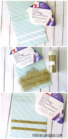 How to make Glitter Tape with Double Sided tape.