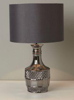 Smoke Darci Table Lamp - table lamps - Lighting - BHS