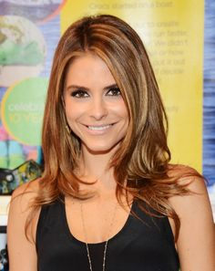 Maria Menounos Long Layered Straight Hairstyles