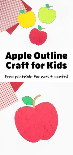 Kids of all ages will love using our free printable apple outline to make a variety of easy apple crafts and decorations for fall! #appleoutline #appletemplate #applepattern #preschool #fallcrafts #applecrafts via @firefliesandmudpies Fun Indoor Activities, Apple Activities, Creative Activities For Kids, Toddler Crafts, Kid Crafts, Preschool Crafts, Sewing Crafts, Apple Crafts, Leaf Crafts
