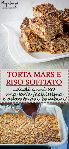 Torta Mars e riso soffiato Ricotta, Pastel Party, Cooking Time, Food To Make, Food And Drink, Gluten Free, Breakfast, Desserts, Cakes