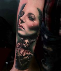Tattoo weeping and horns woman  - http://tattootodesign.com/tattoo-weeping-and-horns-woman/  |  #Tattoo, #Tattooed, #Tattoos