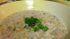 A creamy chowder full of flavor! Of course regular ingredients may be used for those not watching their waistline.