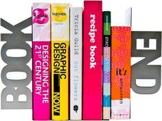 Present Time Book End - Boekensteun - Grijs - Metaal