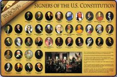 Painless Learning Signers of The Constitution Placemat Us History, Family History, American History, Independence Hall, Declaration Of Independence, Family Information, United States Map, Kingdom Of Great Britain